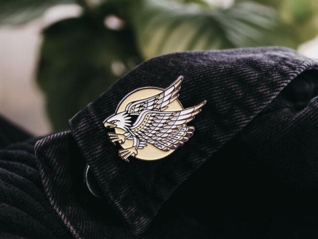 Black Raptor Tattoo Eagle Pin